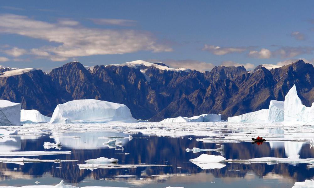 Glaciers off of Greenland
