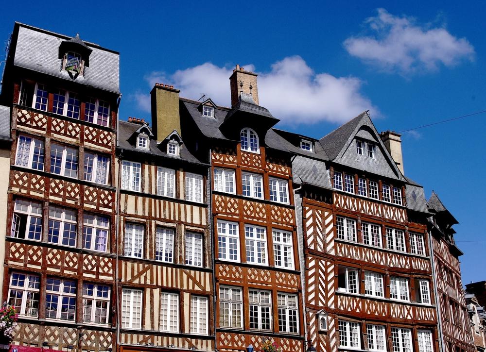 medieval houses in Rennes France