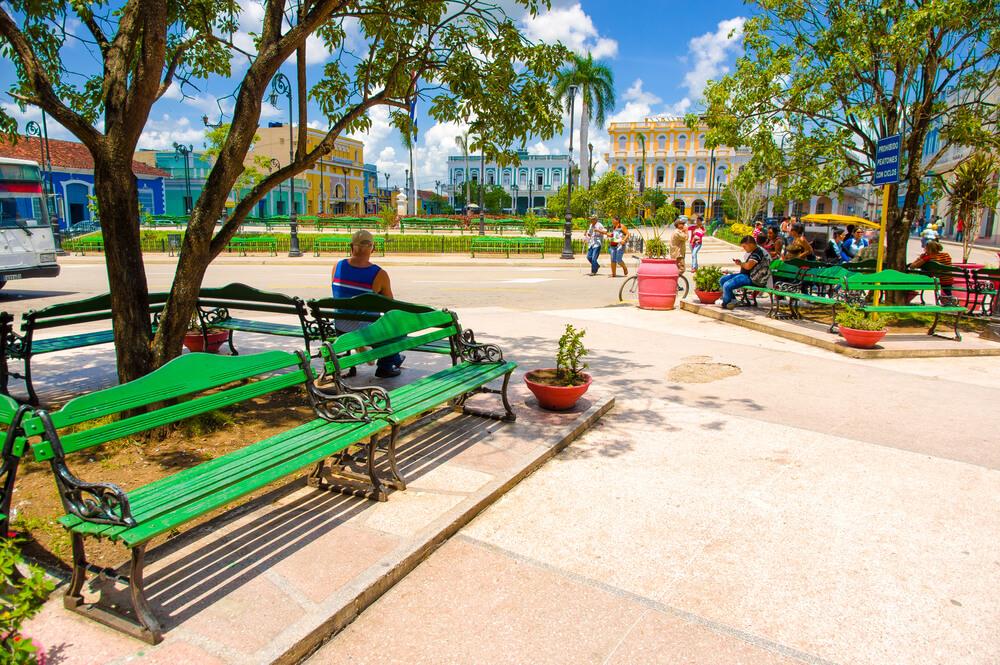 SANCTI SPIRITUS, CUBA - SEPTEMBER 5, 2015: Latin for Holy Spirit. It is one of the oldest Cuban European settlements.