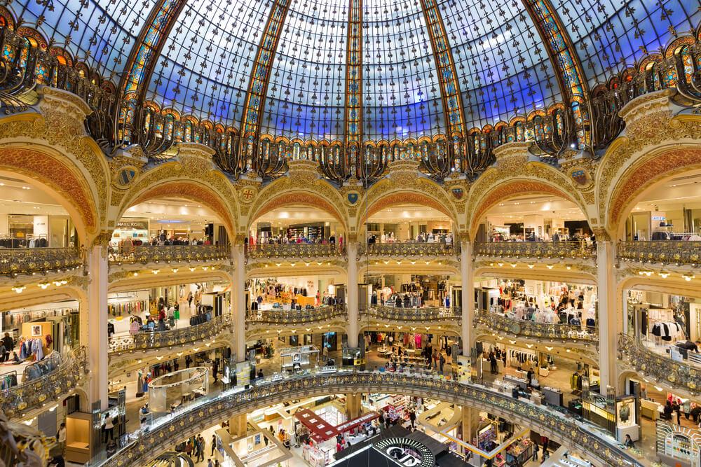Lafayette department store of Paris, France